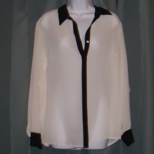 COLDWATER CREEK SHEER BLOUSE TOP SZ XL